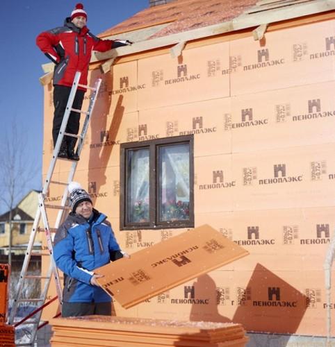 Утепление наружных стен дома – Пеноплексом | Мокрый фасад