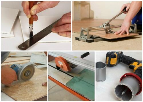 С помощью каких инструментов можно порезать плитку