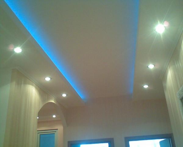Потолки с скрытой подсветкой