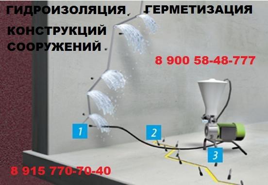 Устранение протечек в бетоне
