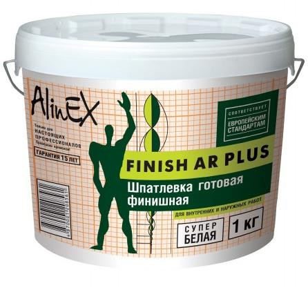 Фото - Шпатлёвка Alinex FINISH AR PLUS 1 кг