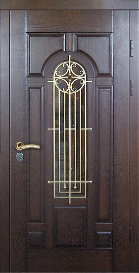 входные металлические двери с ковкой и стеклом купить цена