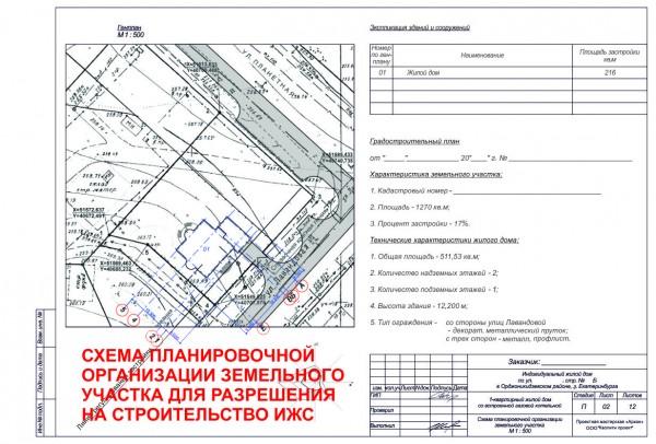 Схема планировочной