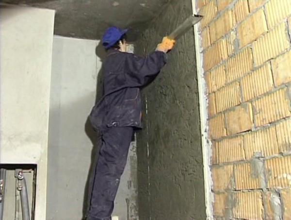 Как штукатурить стены гаража