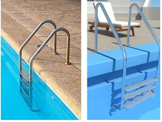 Установка лестницы для бассейна своими руками