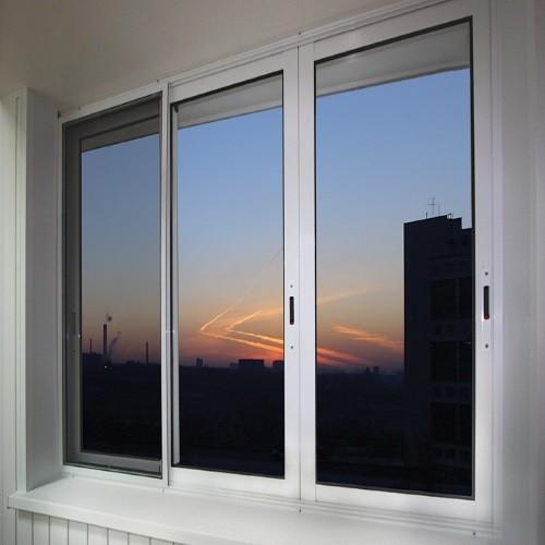 Остекление балкона раздвижными алюминиевыми окнами provedal..