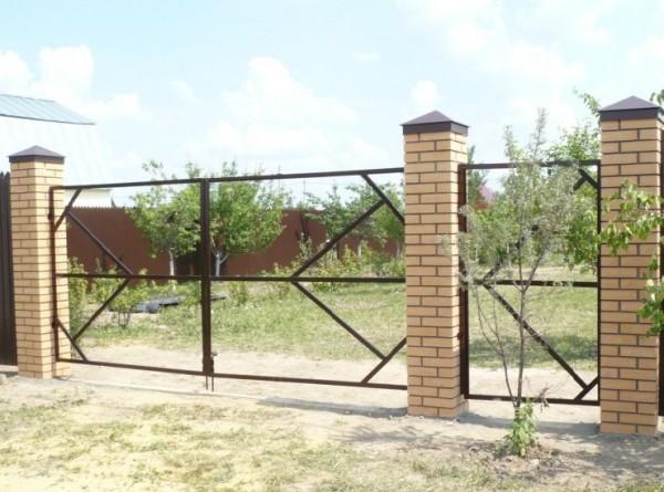 Как сделать каркас для ворот