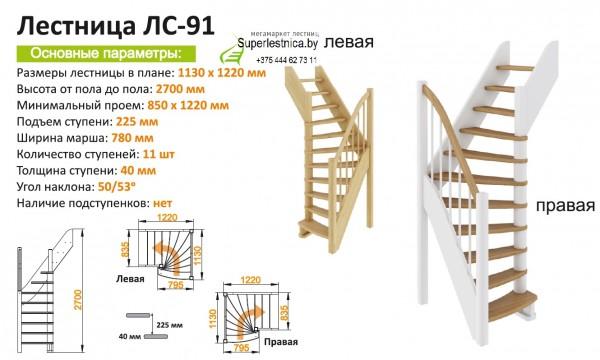 Изготовление приставной деревянной лестницы
