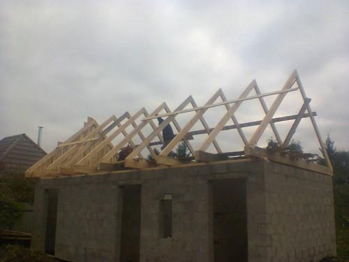 Строительство новой крыши.Карьер