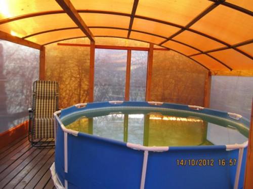 Каркас бассейна из поликарбоната своими руками