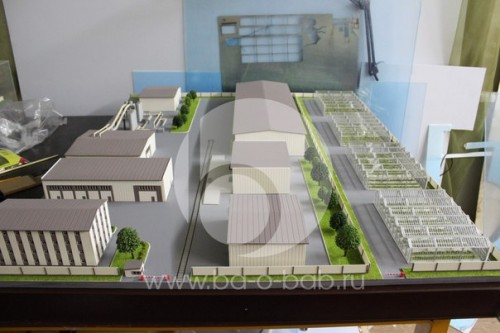 """Архитектурный макет """"Наримановского промышленного эко-парка"""""""