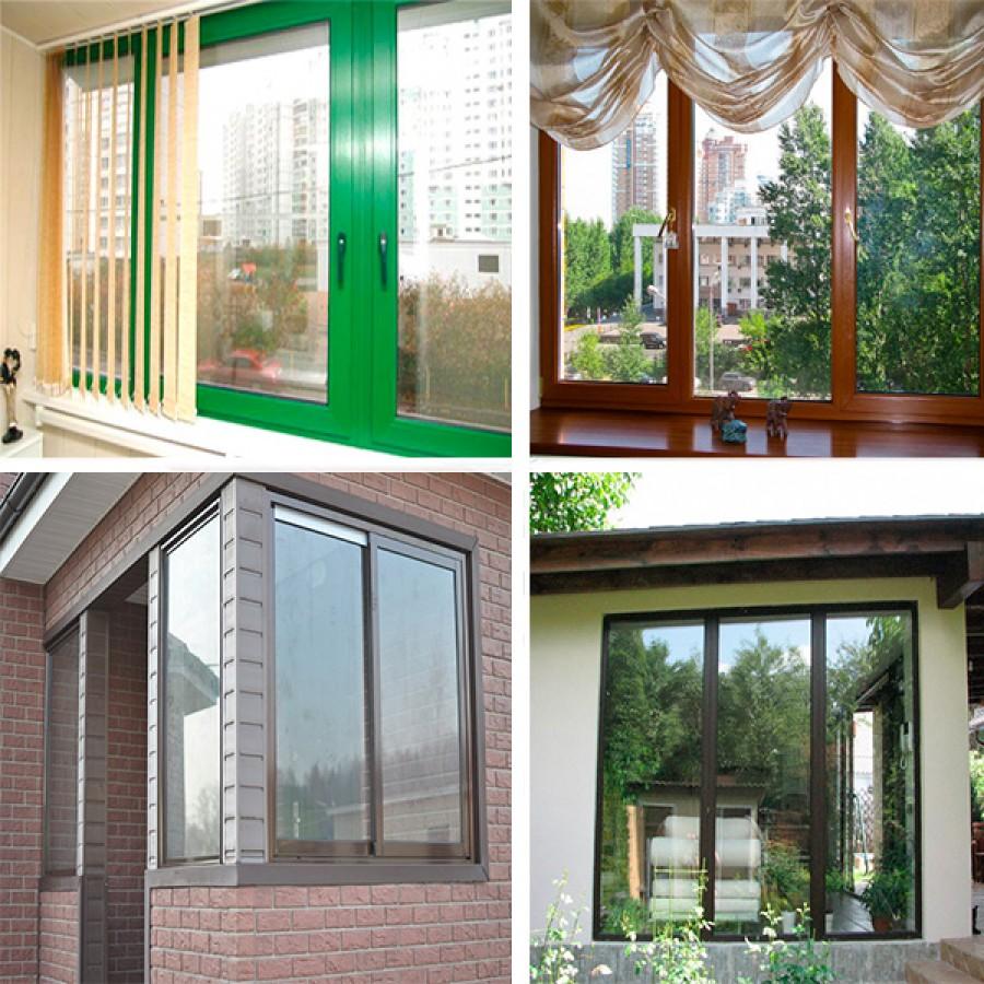Ламинация металлопластиковых окон / остекление балконов / ус.