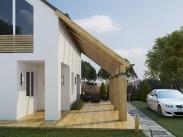 Проект загородного дома с ландшафтом