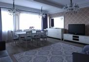 Декор-проект для гостиной в коттедже