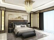Яркий дизайн спальни от Luxury Antonovich Design