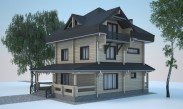 D-185 Дом из клееного бруса