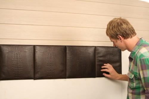 Кожаные панели в интерьере